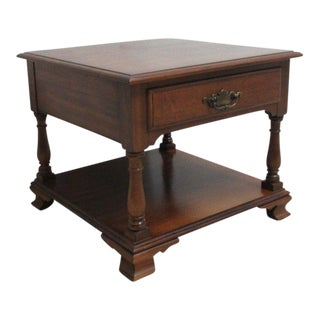 Pennsylvania House Cherry Queen Anne Lamp End Table