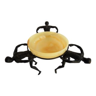 Figural Based Onyx Compote
