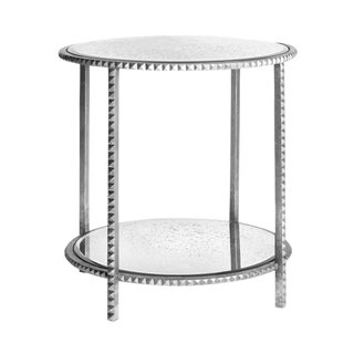 Emporium Home Stud Silver Leaf End Table