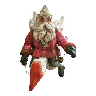 Santa on Flying Goose Figure