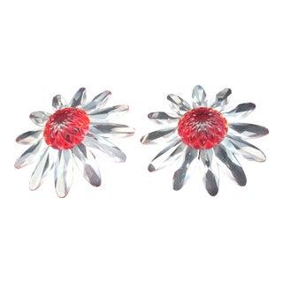 Swarovski Crystal Daises - a Pair