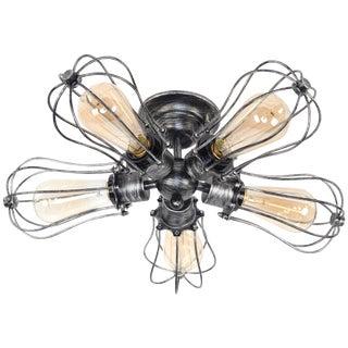 Antique Industrial 5-Light Ceiling Lamp