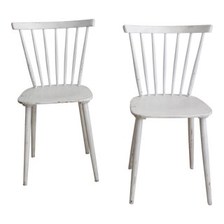 Vintage White Salt Chairs - Set of 2