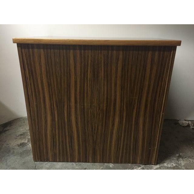 Mid-Century Wood Filing Cabinet - Set of 3 - Image 6 of 8