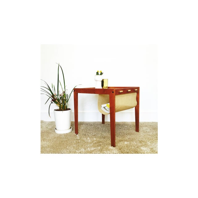 Mid Century Side Table With Magazine Rack - Image 3 of 6