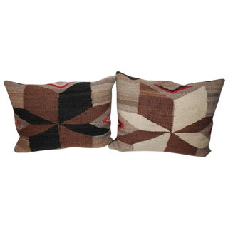 Pair of Navajo Indian Weaving Star Pillows