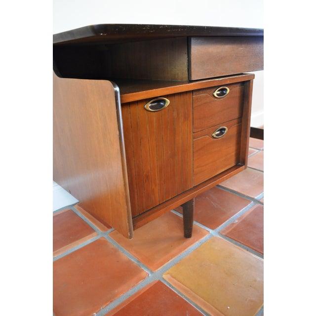 Hooker Mid-Century Walnut Small Floating Desk - Image 3 of 8