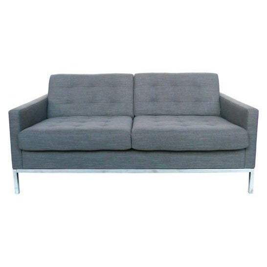 Florence Knoll Grey Settee - Image 1 of 3