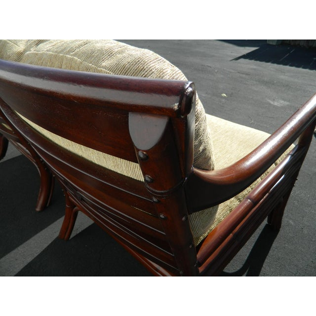 Palecek Colonialwood Club Chairs - A Pair - Image 7 of 11