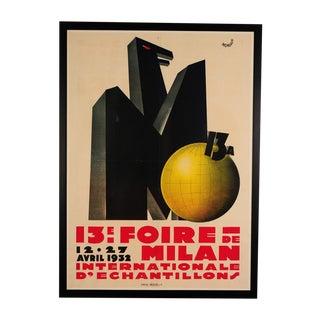 Foire De Milan-Original 1932 French Italian Poster