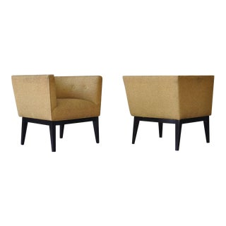 Pair of 1950s Cube Chairs