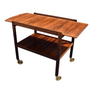 Vintage Danish Modern Rosewood Cocktail Cart