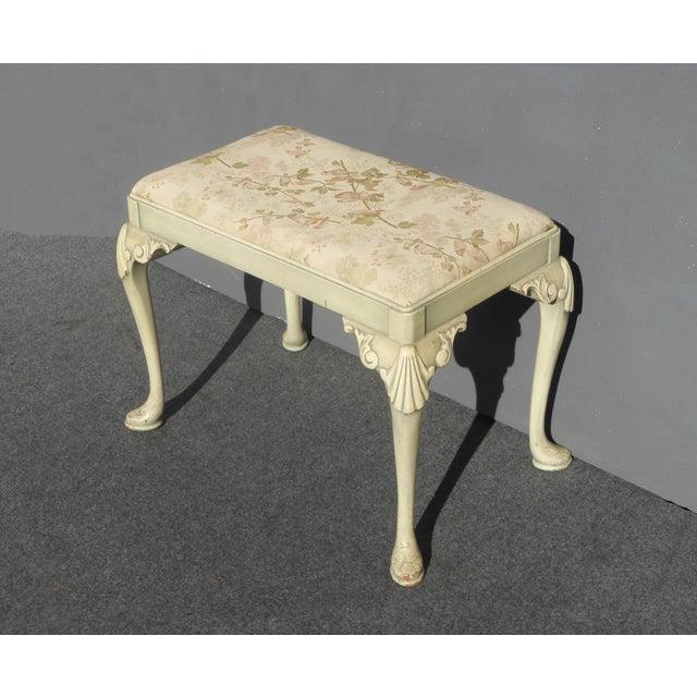 Vintage Queen Anne Piano Vanity Bench - Image 6 of 11