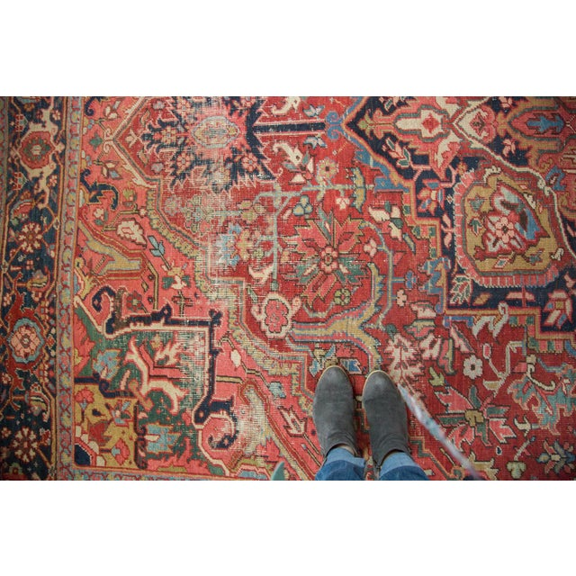 "Distressed Ahar Heriz Carpet - 8'2"" X 11'9"" - Image 5 of 10"