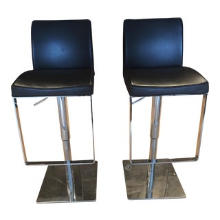 Jensen Lewis Matteo Swivel Bar Stools - A Pair