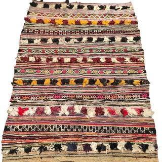"Vintage Moroccan Boucherouite Rug - 4'8"" x 6'8"""