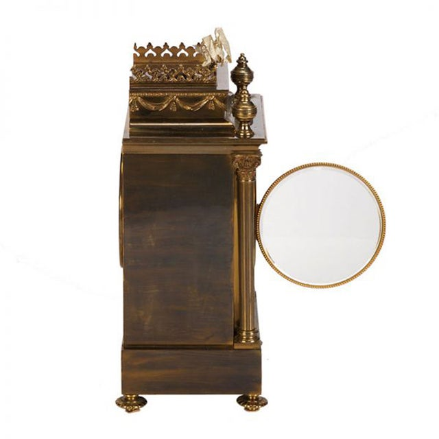 19th Century French Gilt Brass 8 Day Mantel Clock - Image 3 of 6