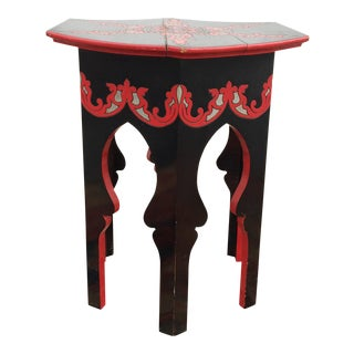 Morrocan Hand Painted Accent Table