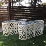 Image of Bamboo Oval Tables - A Pair