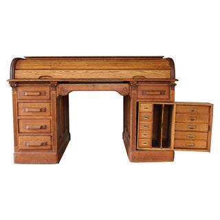 Roll-Top Desk With Secret Compartments
