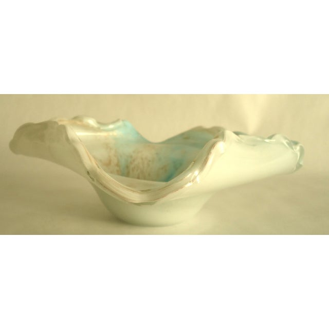 Light Blue & Gold Murano Glass Decorative Bowl - Image 7 of 7