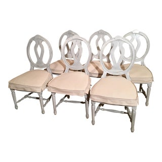 Swedish Gustavian Dining Chairs - Set of 6