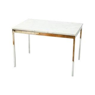 Modern Chrome & Italian Marble End Table