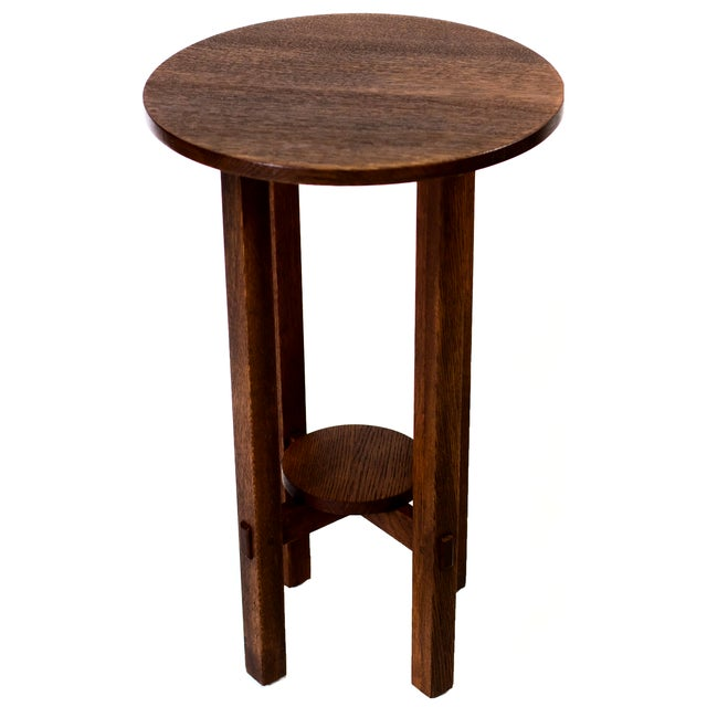 Image of Lifetime Round End Table Plant Stand