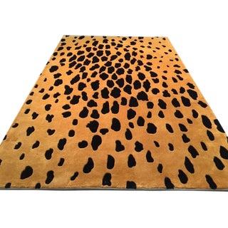 Safari Style Handmade Wool Rug - 5′3″ × 8′