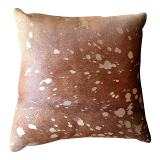 Gambrell Renard Metallic Cowhide Pillow