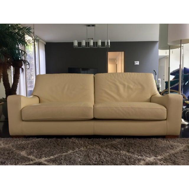 Roche Bobois Leather Sofa Sleeper - Image 2 of 9
