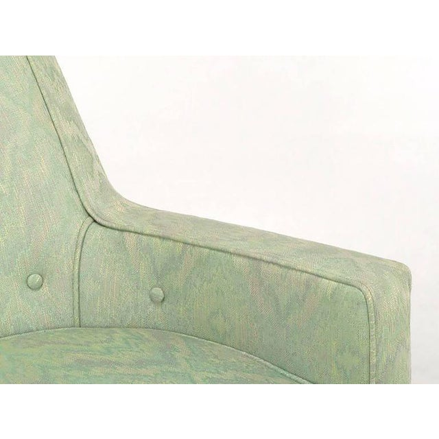 Image of Pair of Classic Barrel-Back Club Chairs in Ikat Upholstery