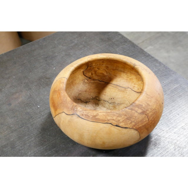 Image of Mark Lindquist Turned Spalted Maple Bowl