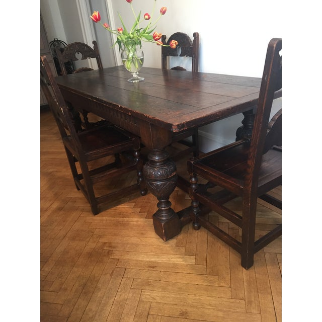 Antique Tudor Table - Image 4 of 9