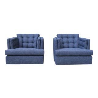 Milo Baughman pair Of Swivel Chairs