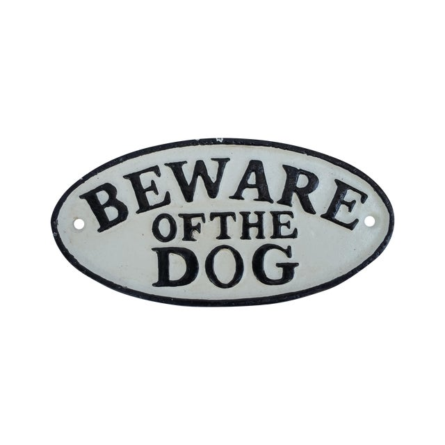 Image of Cast Iron Beware of the Dog Sign