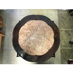 Image of C 1880 Asian Carved Rosewood & Marble Top Side Table