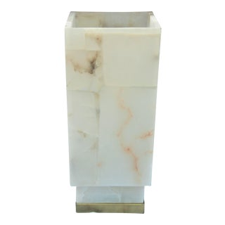 Jaime Young Rectangular Alabaster Table Lamp