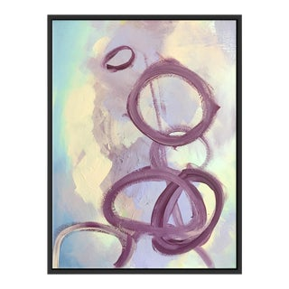 """Abstract Purple Rings"" Framed Fine Art Giclée"