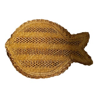 Woven Straw Fish Placemats - Set of 4