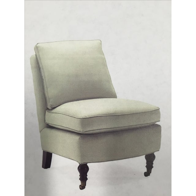 Image of Kate Ivory Linen Slipper Chairs - Pair