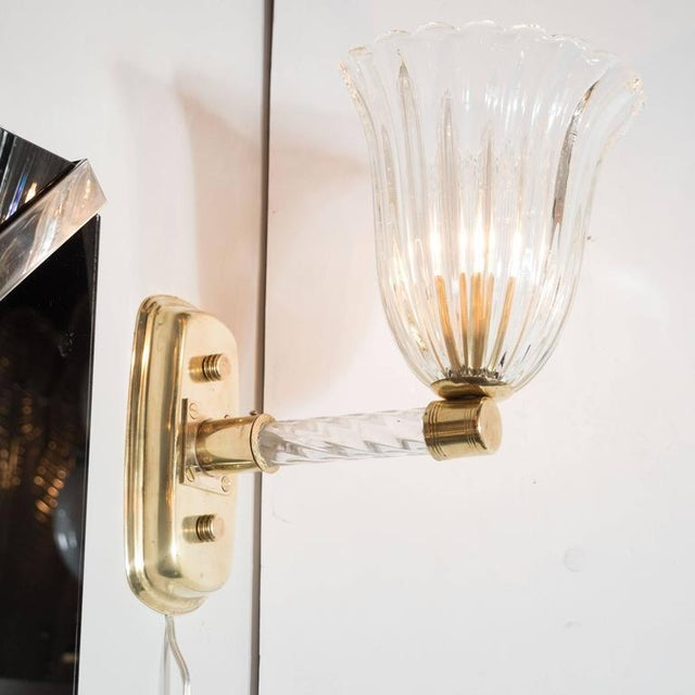 Sophisticated Gorgeous Pair of Mid-Century Arm Sconces in Brass ...