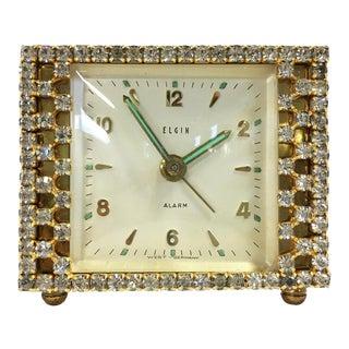 Elgin West Germany Rhinestone Alarm Clock
