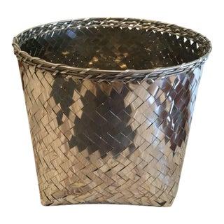Riado Weave Metal Basket
