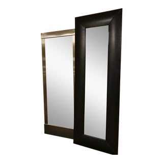 Faux Leather Wall Mirror