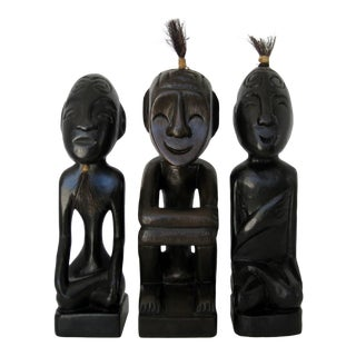 Tribal Wood Figurines - Set of 3