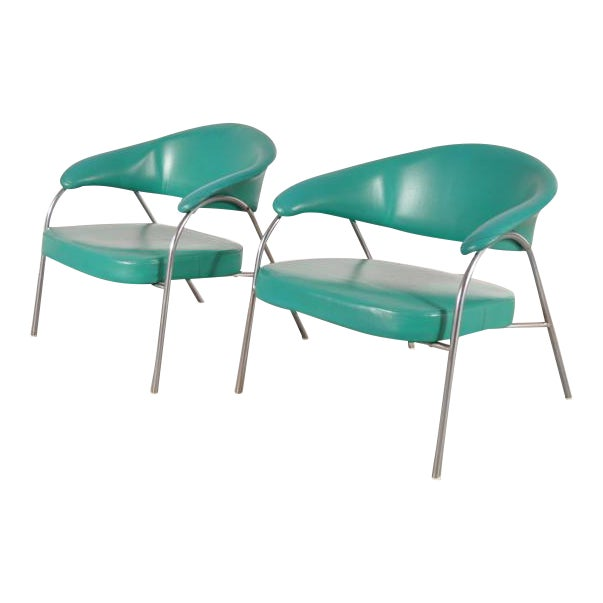 Pair of Rare Easy Chairs Produced by Arflex, Italy, circa 1960 - Image 1 of 7