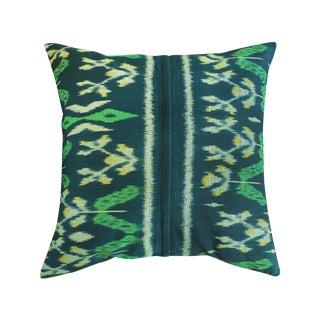 "Handwoven ""Java Banana Leaves"" Ikat Pillow Case"