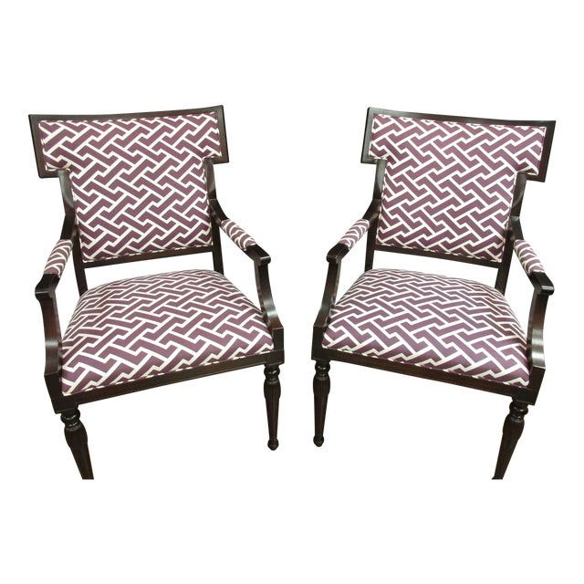 Image of Hickory Arm Chairs - A Pair