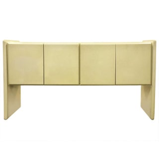 Milo Baughman Lacquered Console